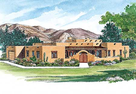 Creative Sante Fe-Style Home Plan - 81408W | Architectural Designs ...