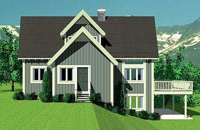 Striking vacation house plan 81412w 1st floor master for Vacation house plans sloped lot