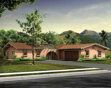 Spanish Influenced House Plan 81415w Architectural