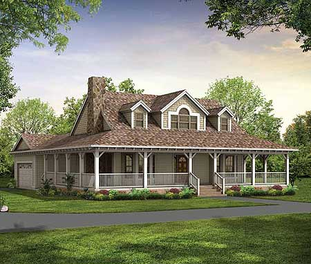 Architectural designs for Two story country style house plans