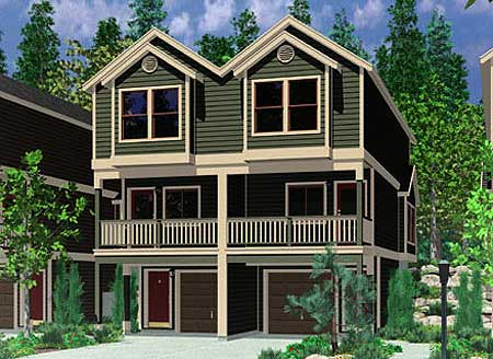 8162lb 2nd floor master suite cad available drive for Best drive under house plans