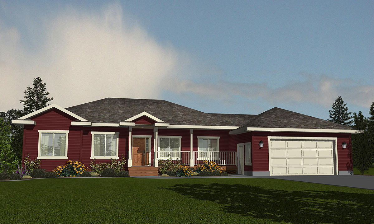 One level living with expandable space 81628ab for Expandable home designs