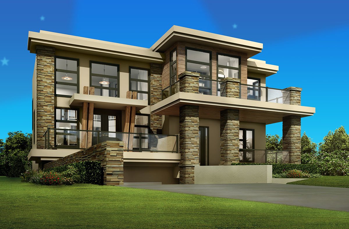 Cutting edge contemporary house plan 81637ab for Architectural designs com