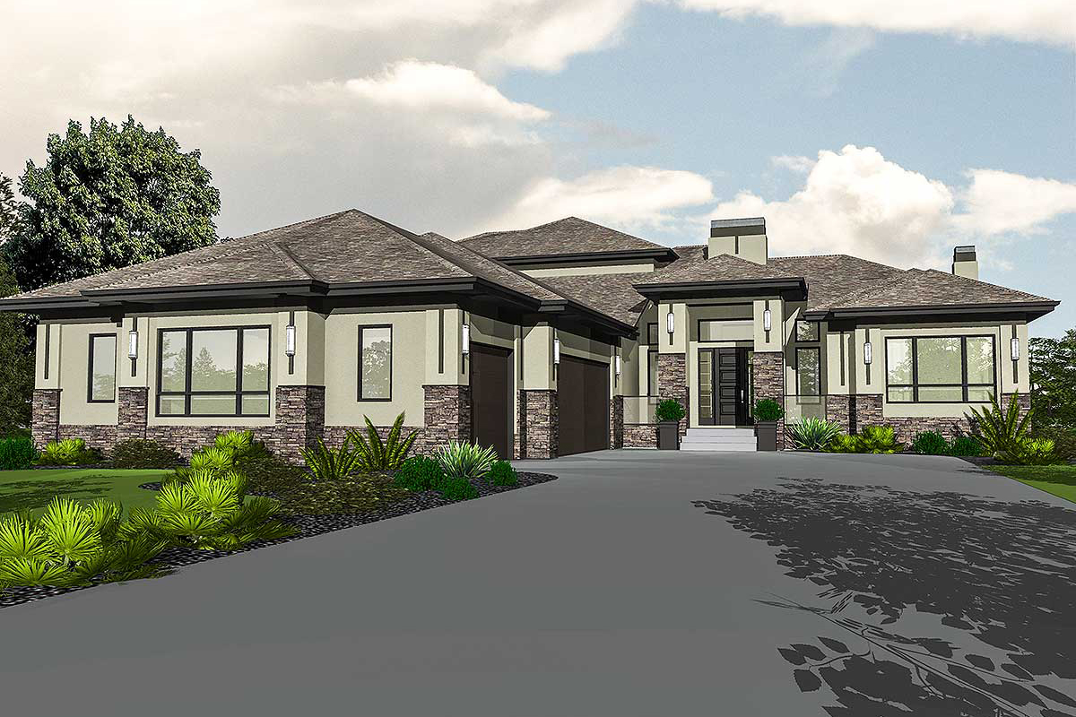 Master retreat with elevator 81638ab architectural for Retreat house plans