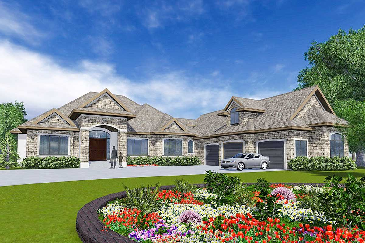 European Home Plan With In Law Suite 81648ab