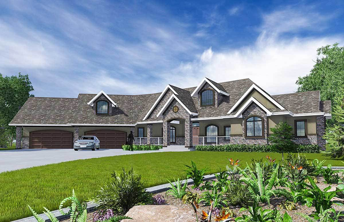 Spacious ranch with optional lower level 81649ab for Spacious house plans