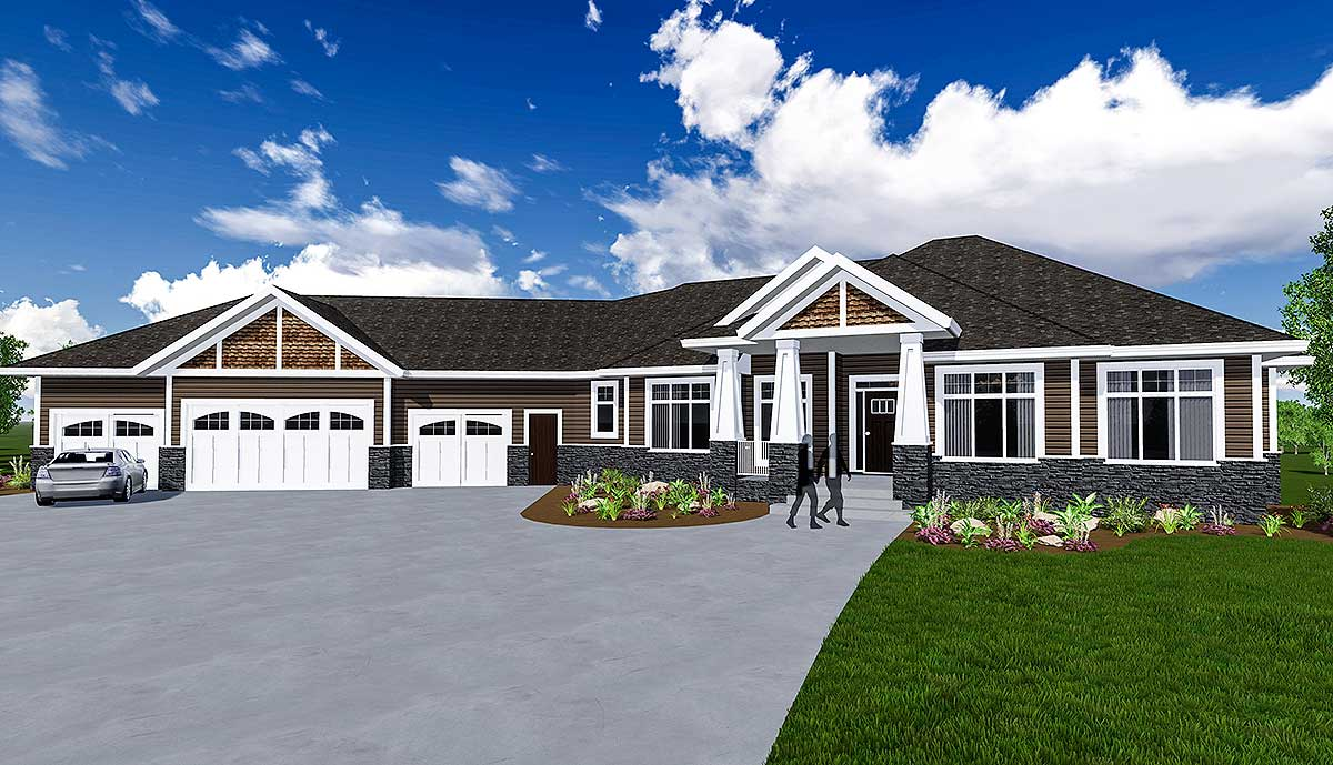 Craftsman House Plan with 3 Season Room - 81660AB ...