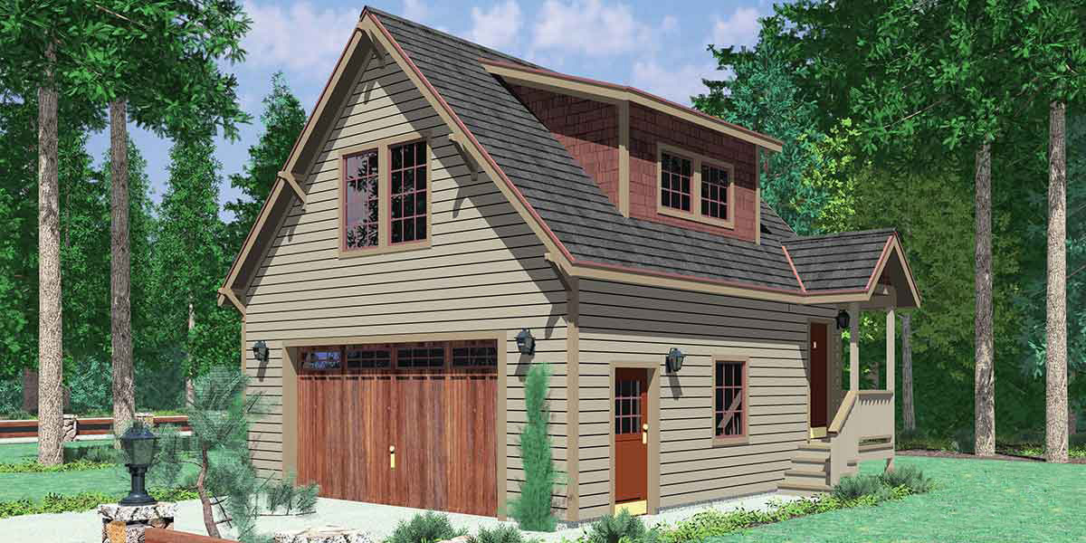 Tidy garage studio 8172lb architectural designs Garage with studio plans