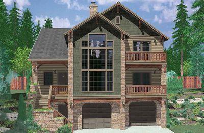 Hillside Retreat 8189lb Architectural Designs House