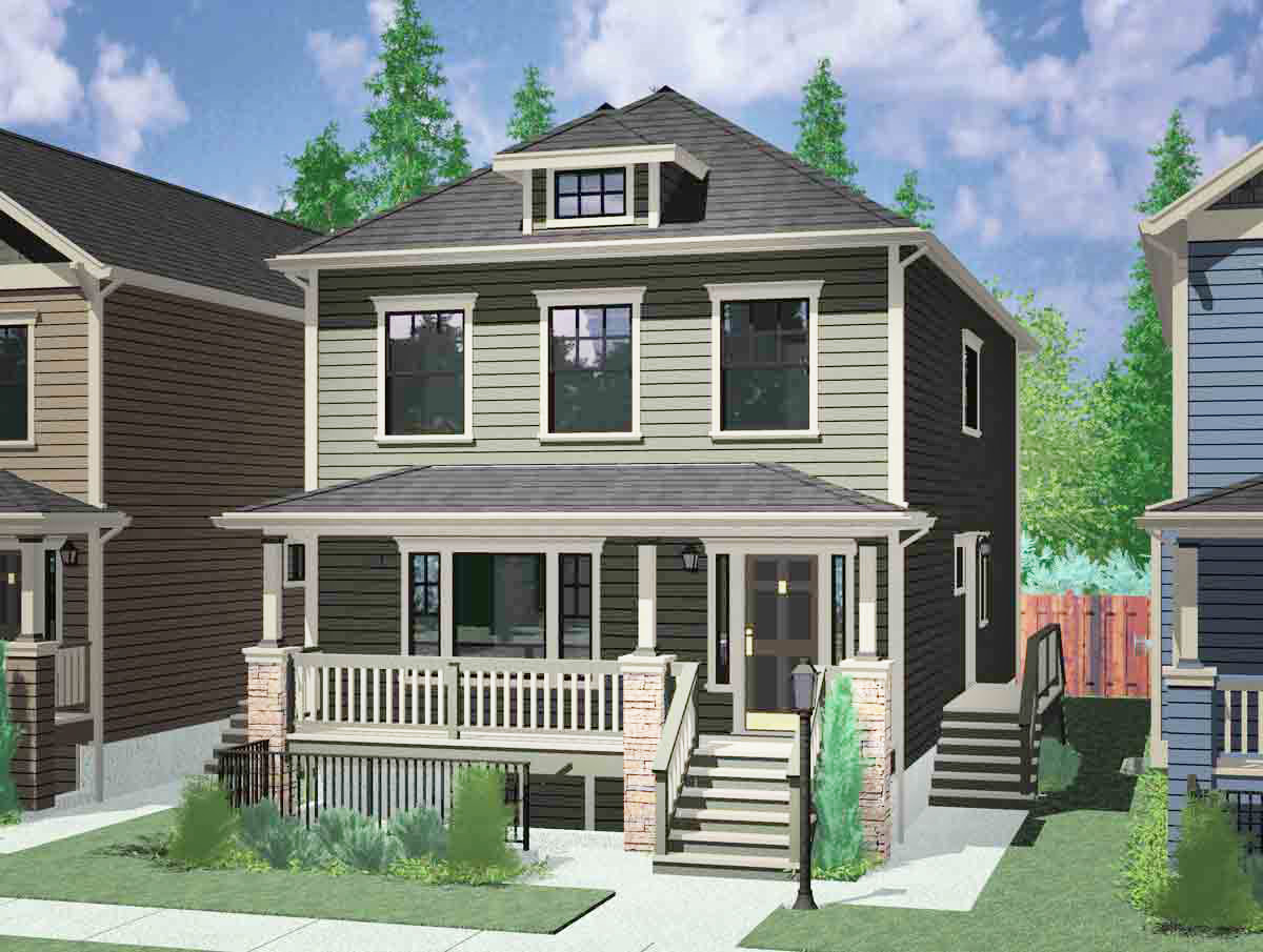 2 family craftsman house plan 8194lb architectural for 2 family house plans
