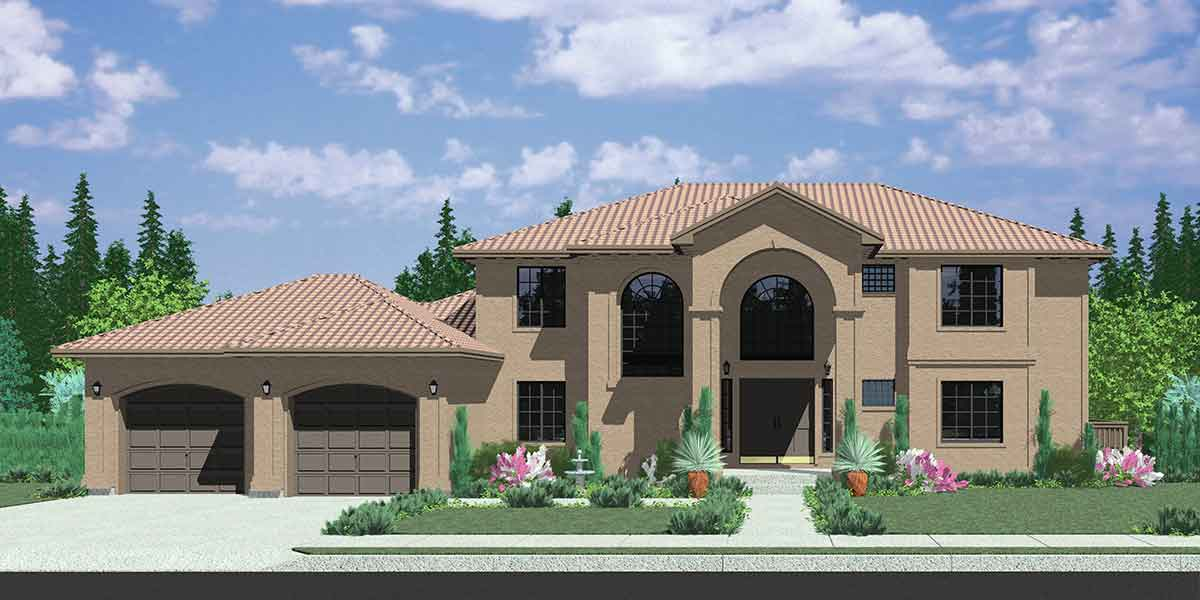 Two Story Florida House Plan 8198lb Architectural