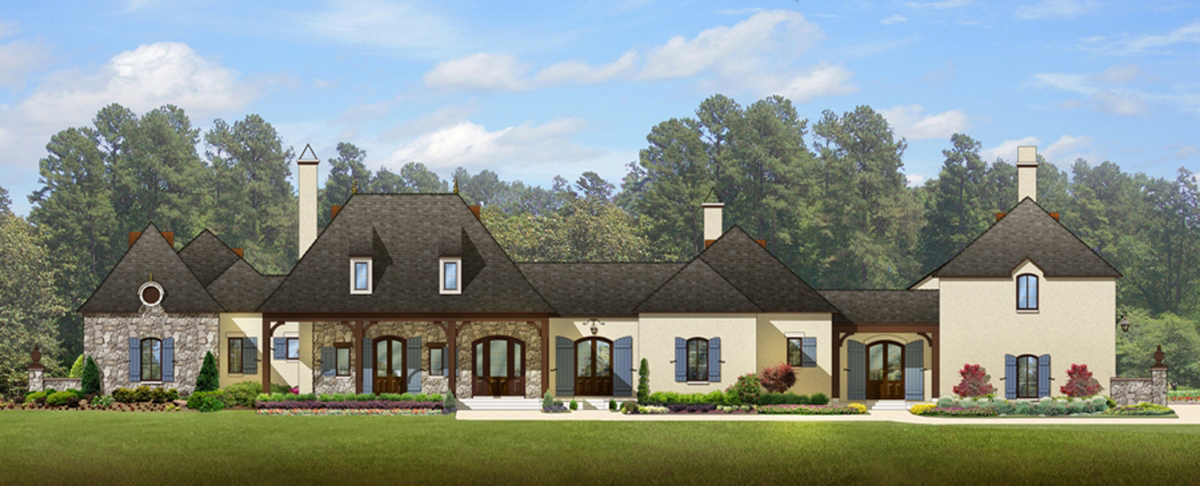 luxury french normandy house plan 82003ka