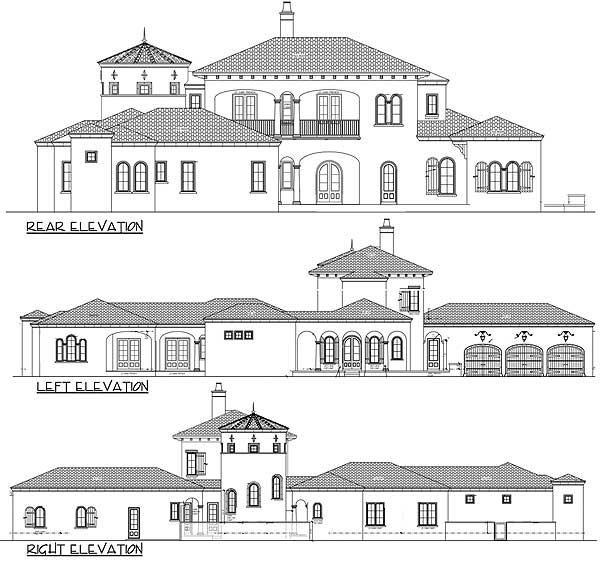 House plans spanish revival home design and style Spanish revival home plans