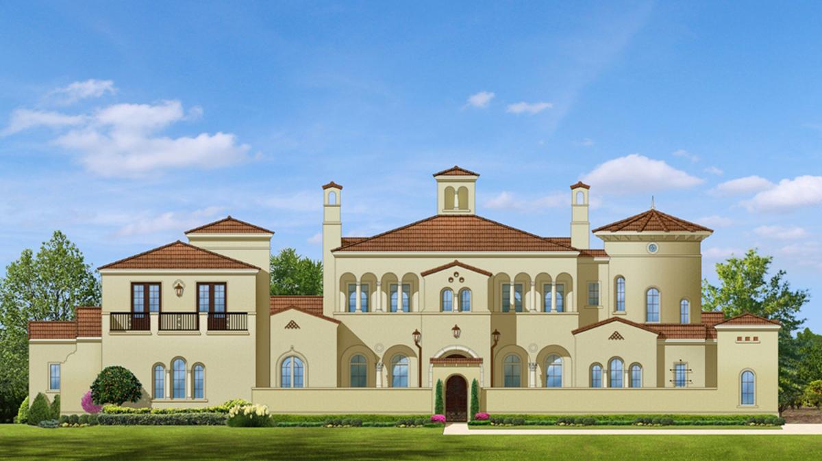 Palatial estate home plan 82011ka 1st floor master for Large estate house plans