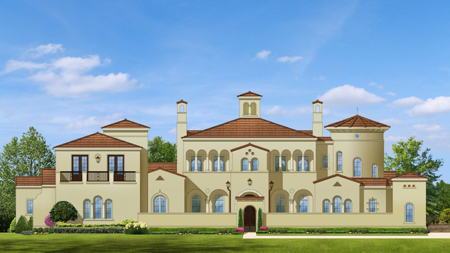 Palatial estate home plan 82011ka architectural for Palatial home designs