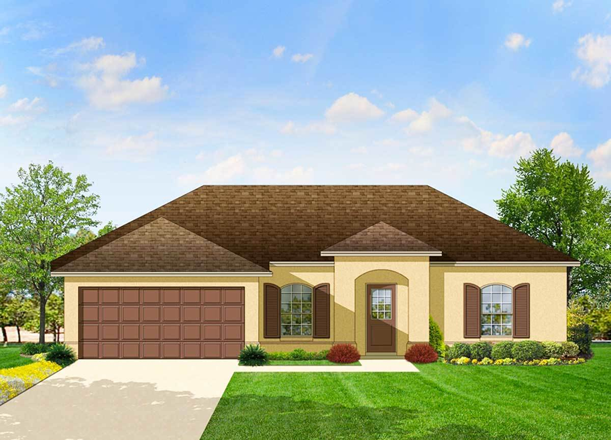 Southern Ranch With Open Layout 82023ka Architectural