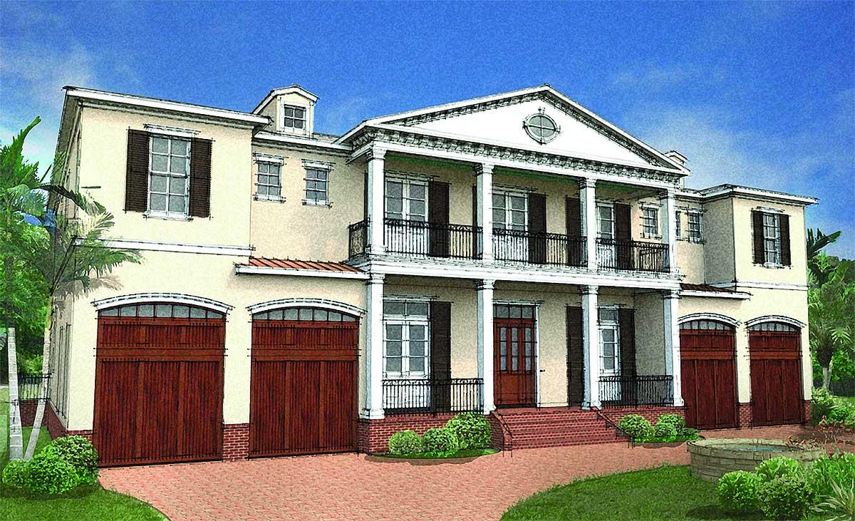 Stunning Six Bedroom Southern House Plan 82073ka