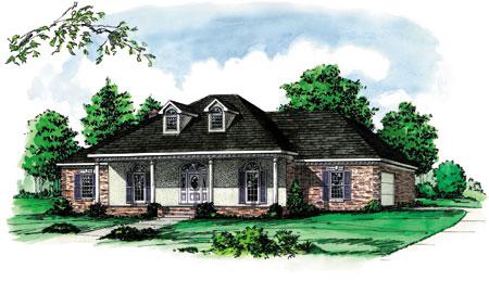 Louisiana Raised Cottage 8212dc 1st Floor Master Suite