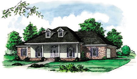 Louisiana raised cottage 8212dc 1st floor master suite for Louisiana cottage house plans
