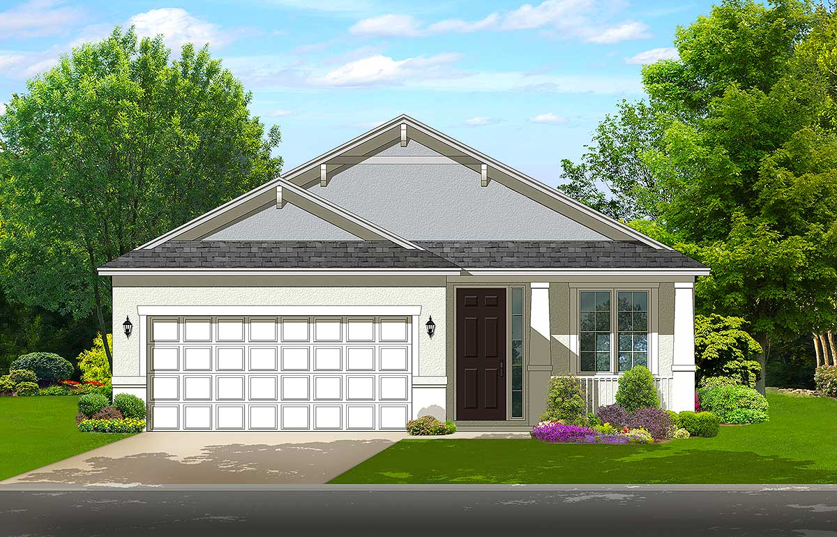 Cottage House Plan With 2 Beds And A Rear Lanai 82122ka