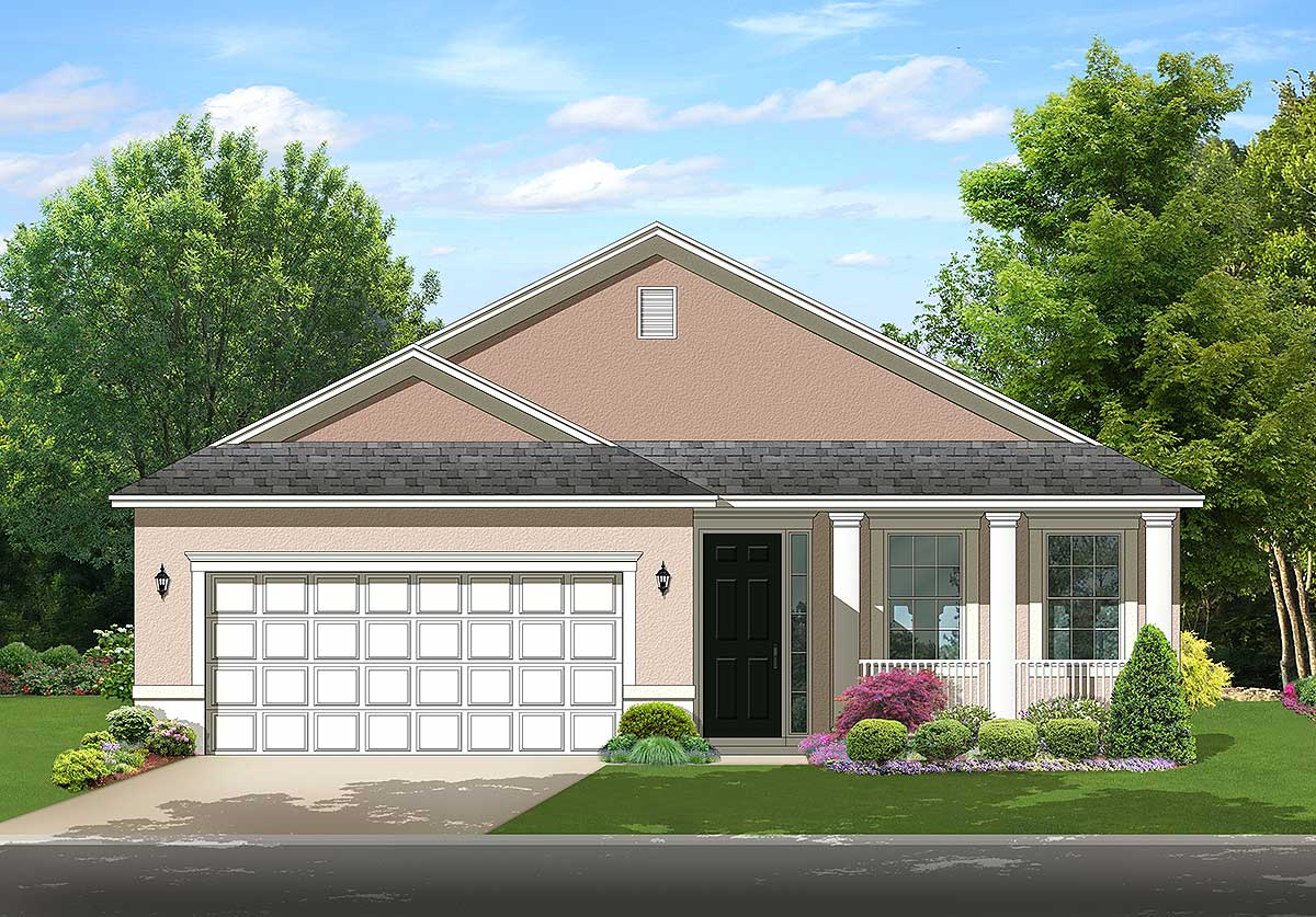 Downsize or retire in style 82124ka architectural for Downsize home plans
