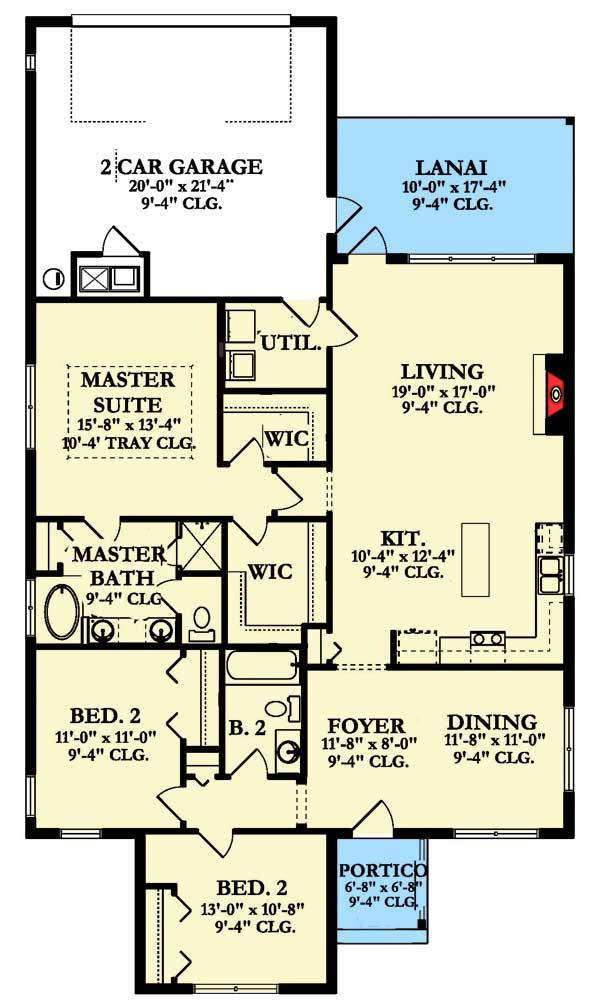 Traditional house plan for narrow lot 82136ka for 2 family house plans narrow lot