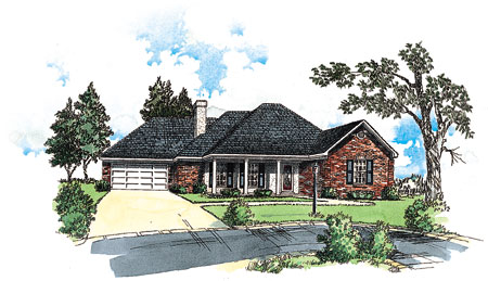 Southern charm 8229dc architectural designs house plans for Southern charm house plans
