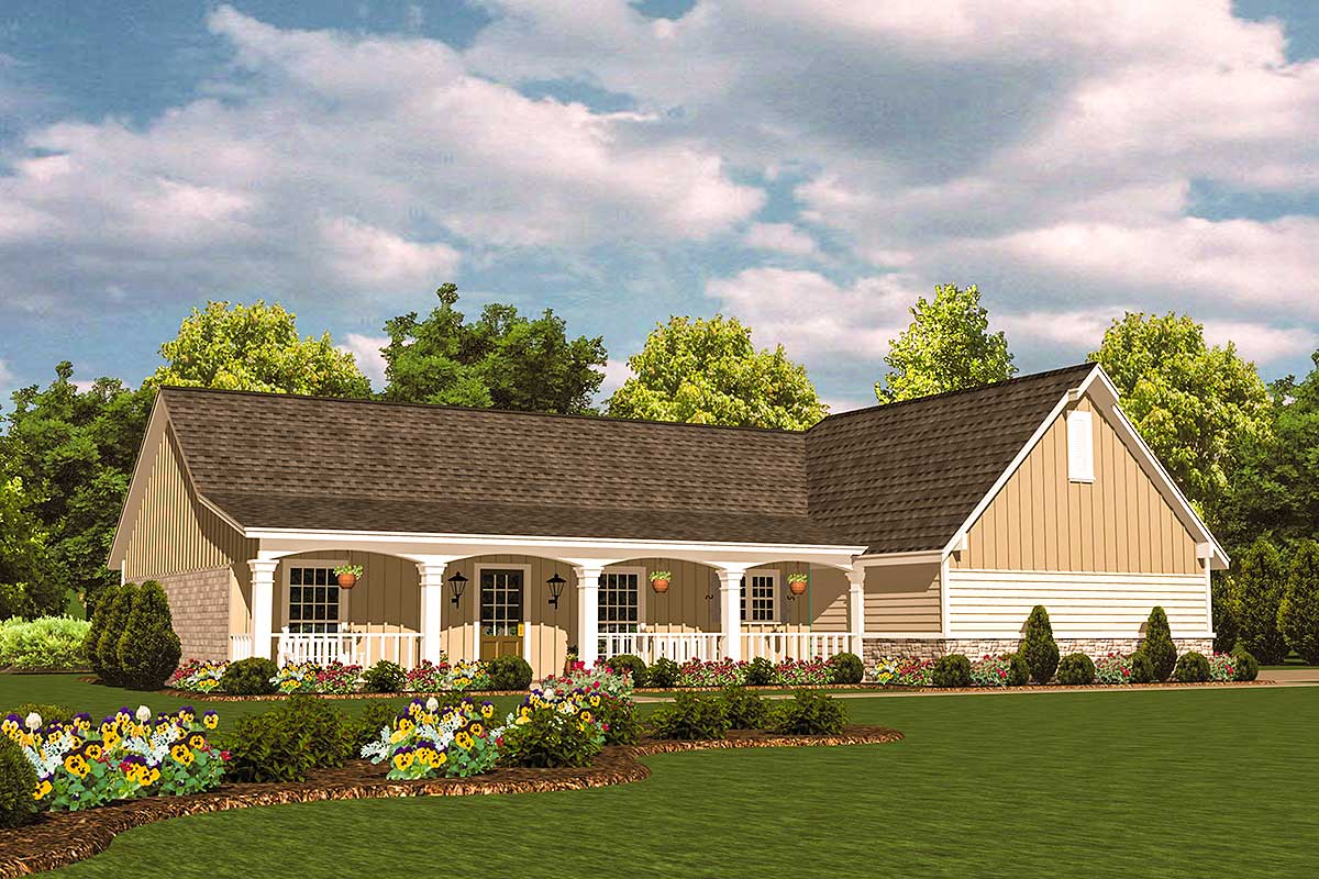 Split bedroom ranch design 8242jh architectural for Ranch plans