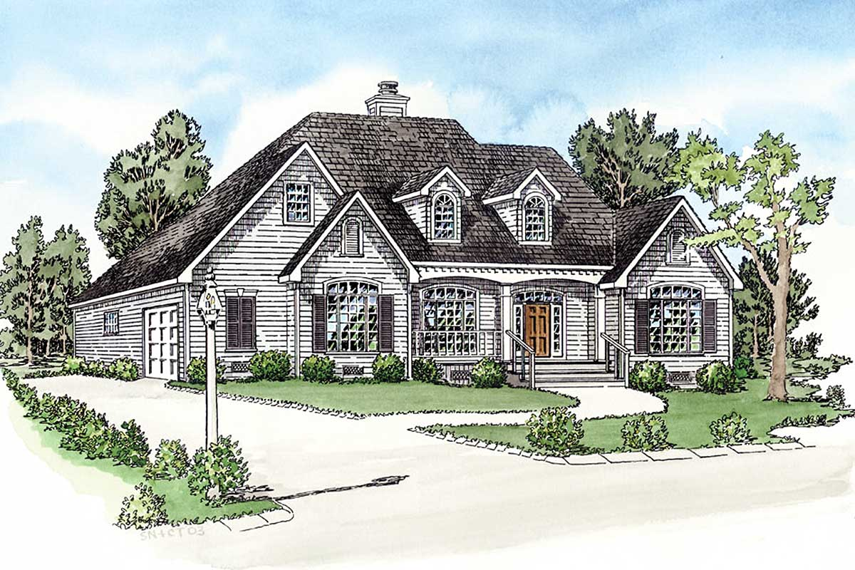 Split bedrooms with expansion possibilities 83005dc for House plans designed for future expansion