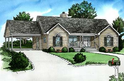 Comfortable Basic Ranch House Plan 83058dc 1st Floor