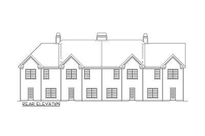 4 Unit Townhouse Plan 83125dc Architectural Designs