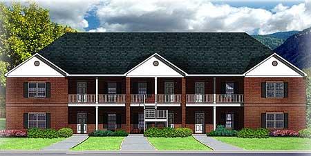 10 unit apartment building plan 83128dc 1st floor for 4 unit apartment building plans pdf