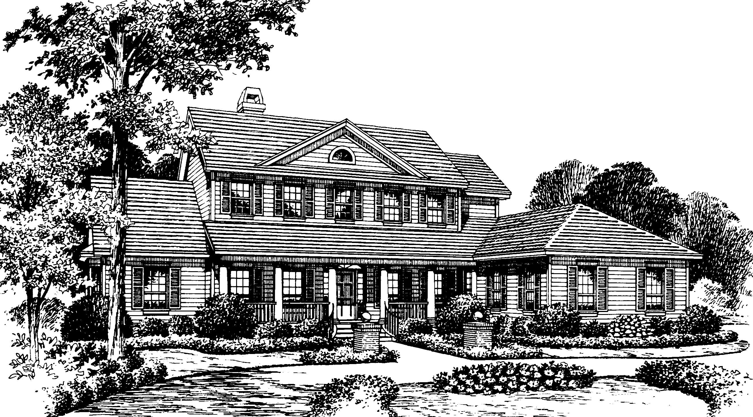 Southern Country Home Plan 83320cl 1st Floor Master