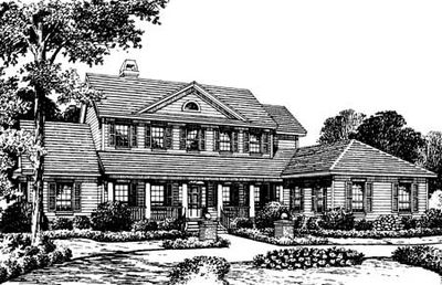 Southern Country Home Plan - 83320CL thumb - 02