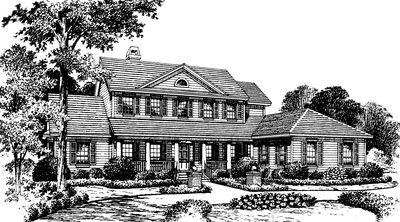 Southern Country Home Plan - 83320CL thumb - 01