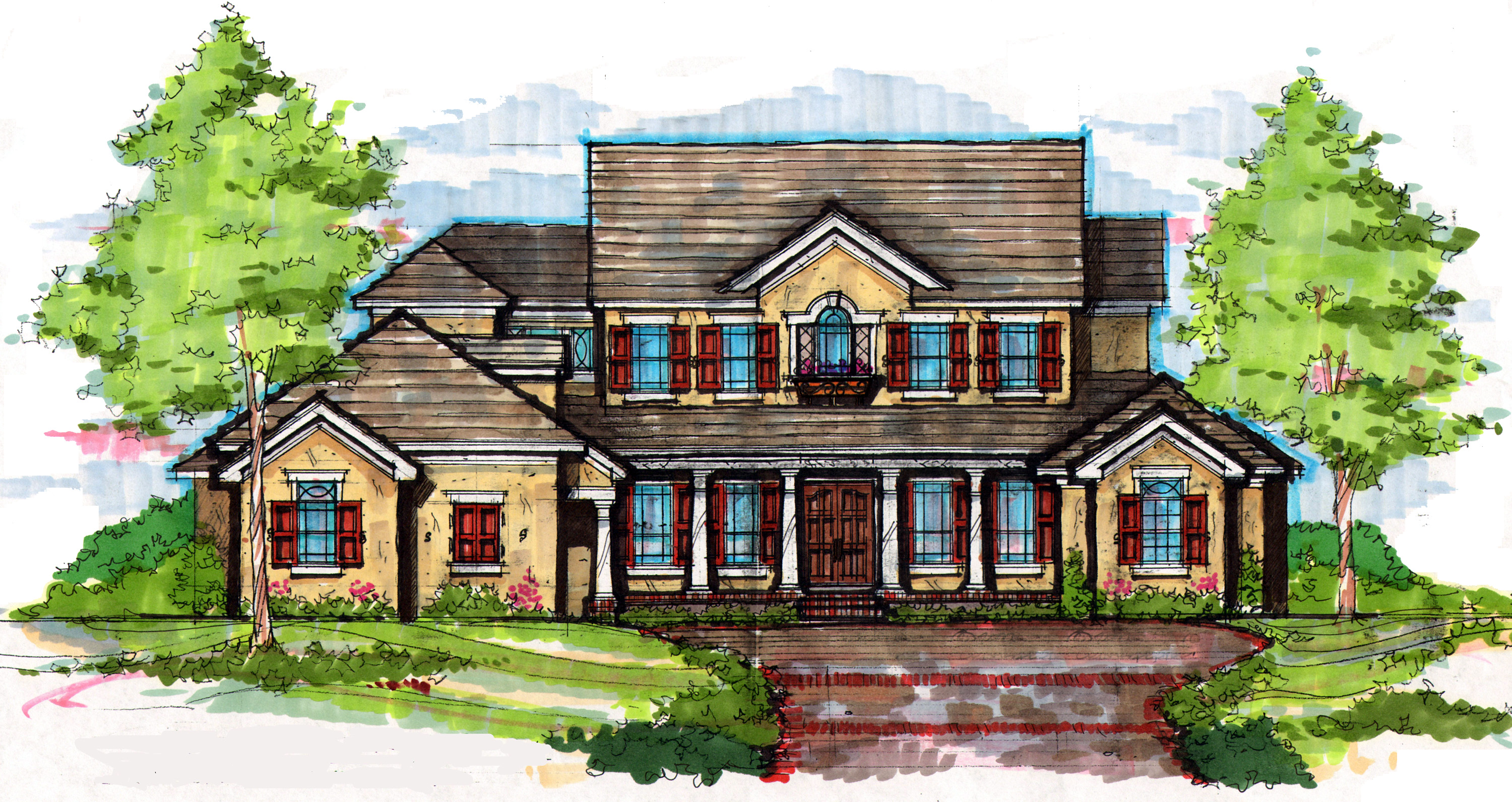 Beautiful southern colonial 83330cl architectural for Southern colonial house plans