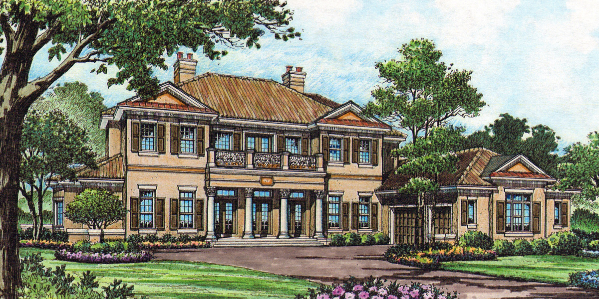 Traditional Southern Luxury 83353cl Architectural