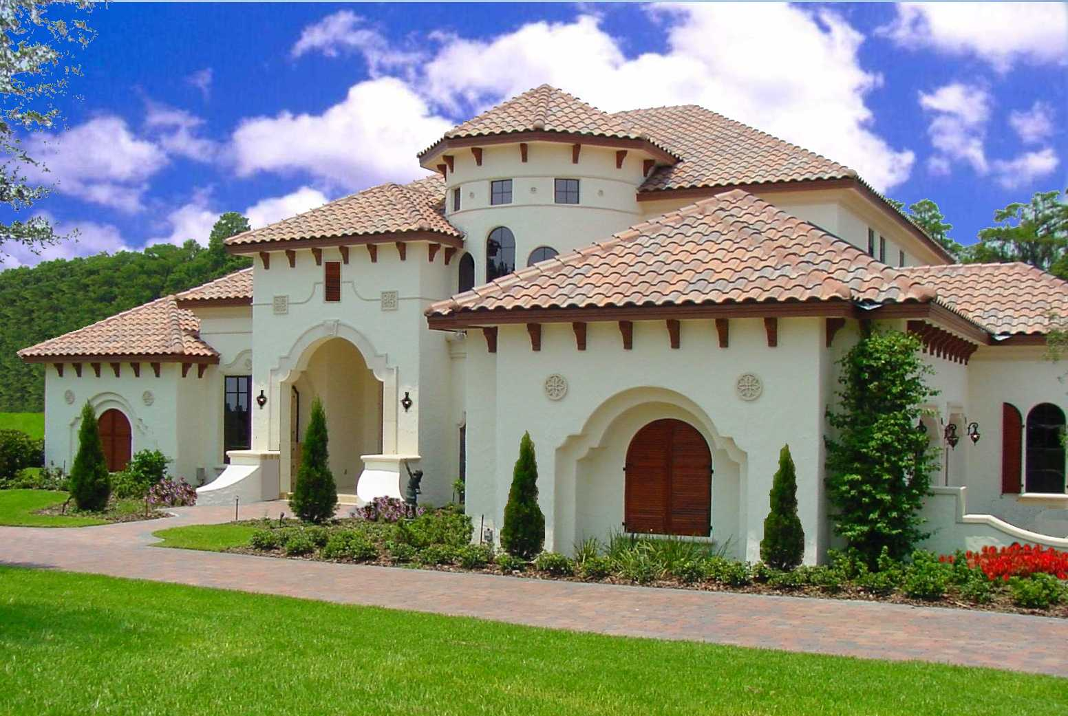 Expansive mediterranean luxury home plan 83357cl 1st for Luxury home plans with cost to build