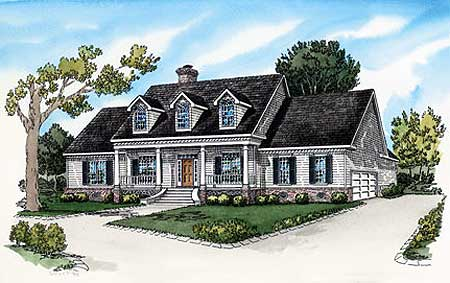 Attractive Country Home Plan 8369DC Architectural Designs