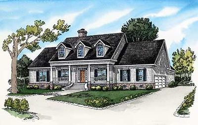 Attractive Country Home Plan - 8369DC thumb - 01