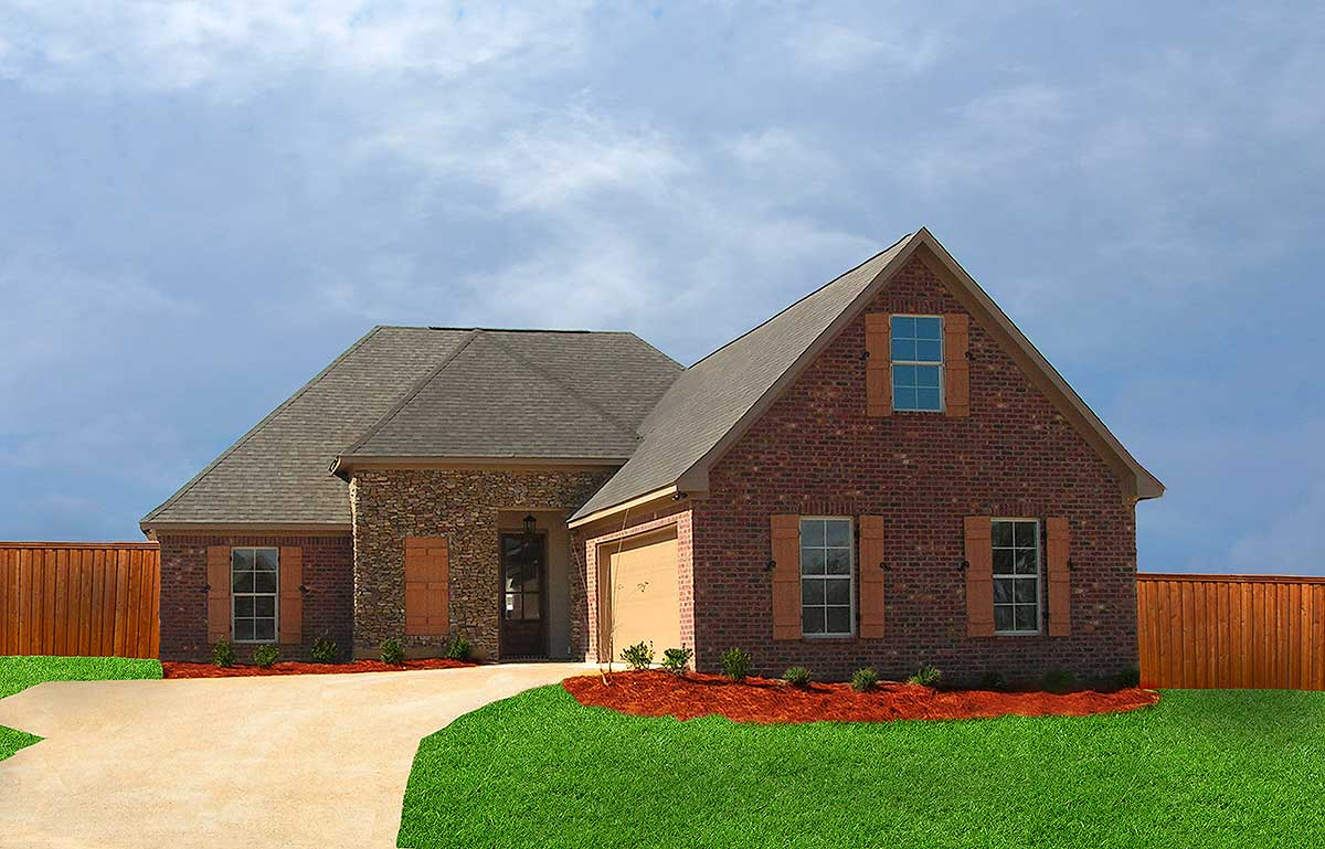 Southern House Plan with Open Floor Plan - 83864JW ...
