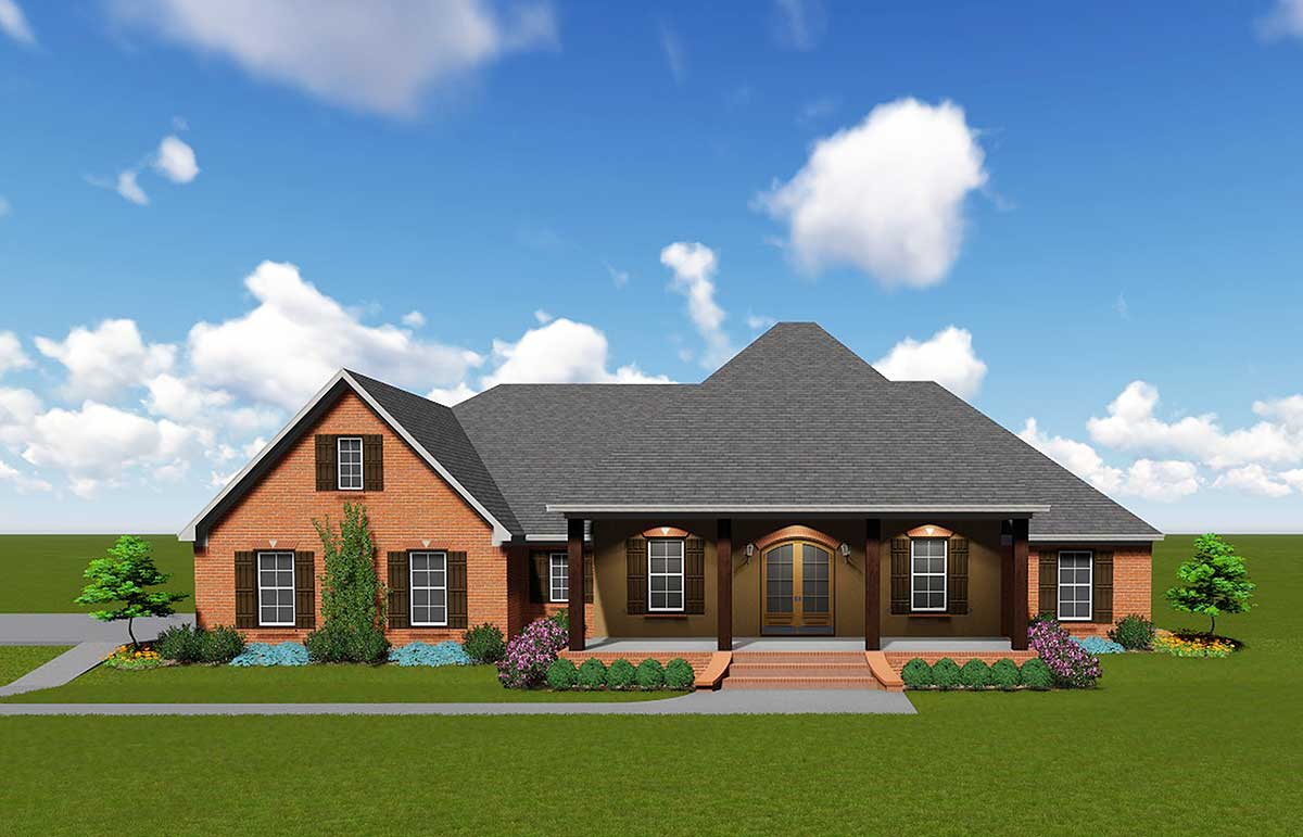 Sprawling Southern House Plan 83868jw Architectural Designs House Plans