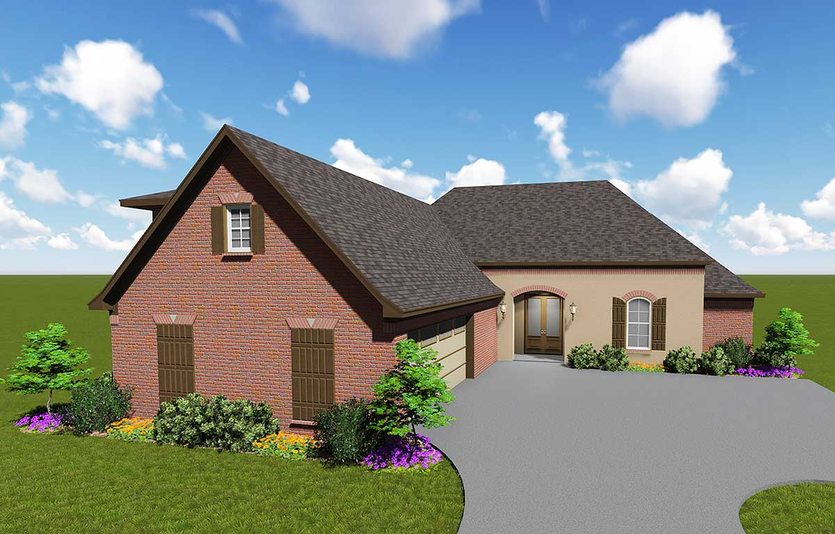 Modest French Country House Plan 83870jw 1st Floor