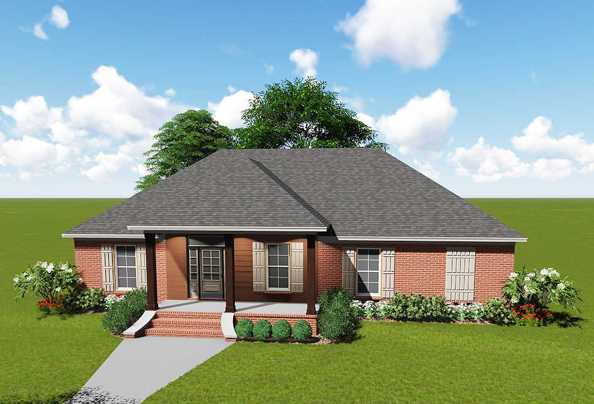 Acadian house plan with safe room 83875jw for Acadian home plans