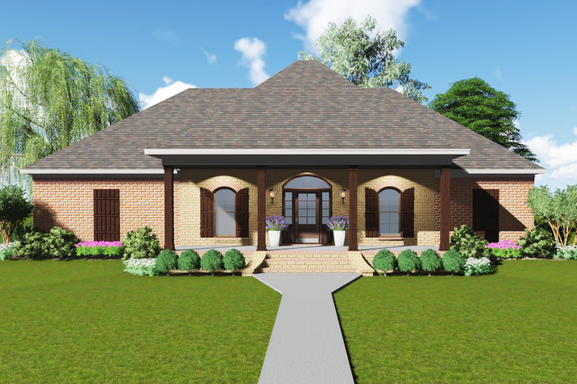 Architectural designs for Acadian house plans with front porch