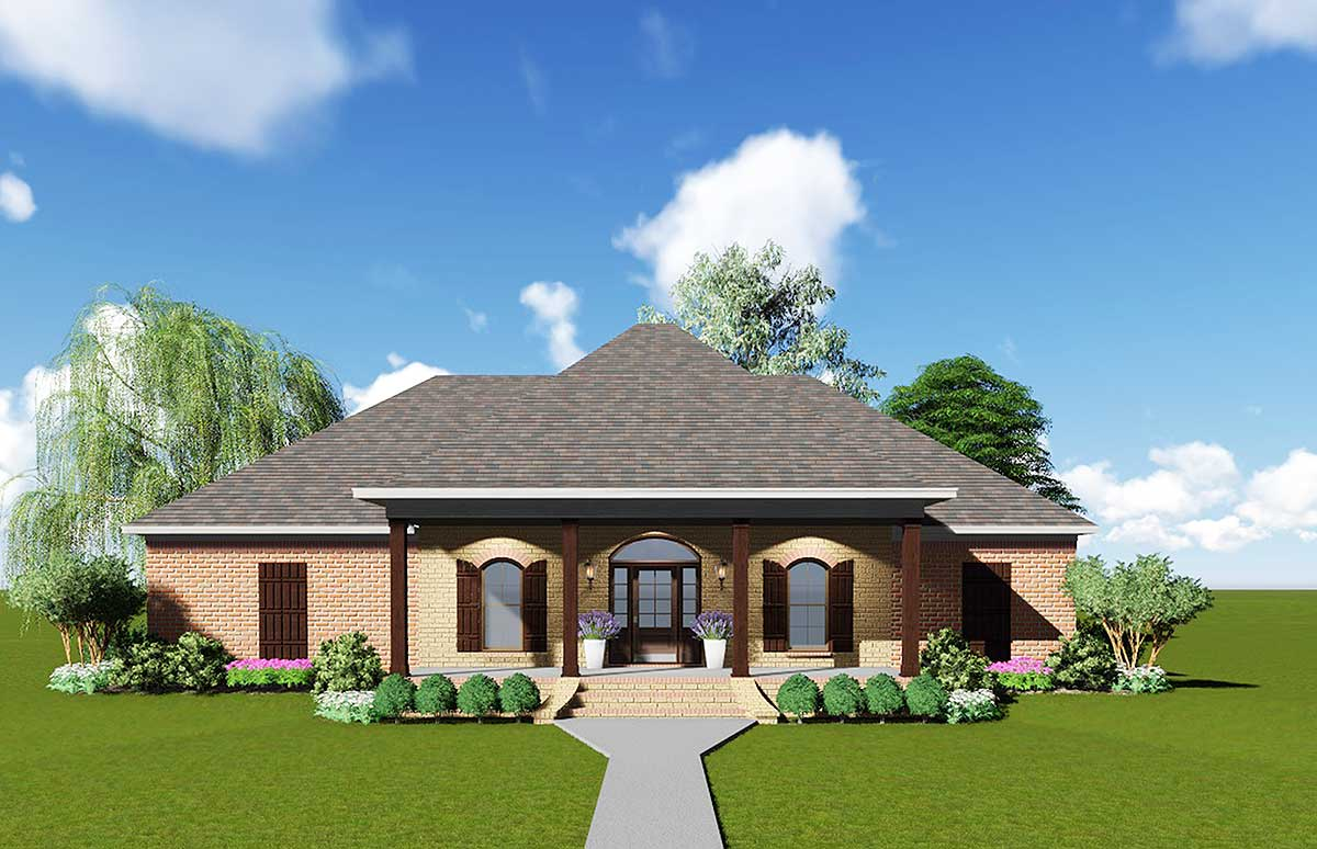 Acadian house plan with safe room 83876jw 1st floor for Acadian home plans