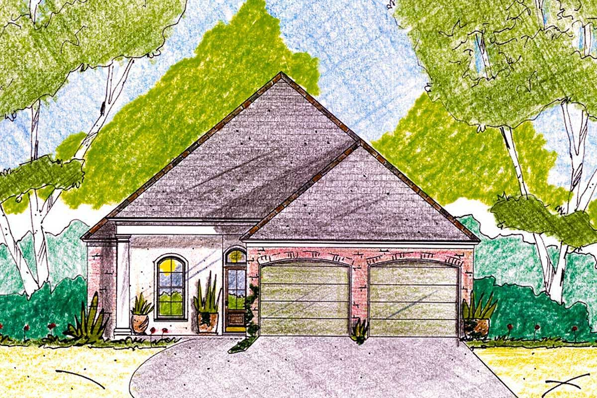 Home plan under 40 feet wide 84014jh architectural for 40 ft wide house plans