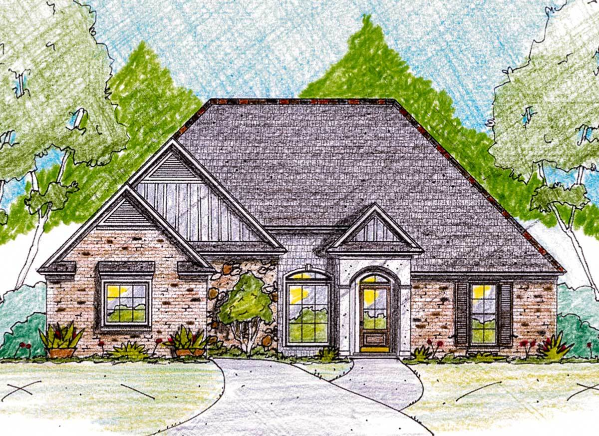 Old world charm 84038jh architectural designs house for Old world house plans