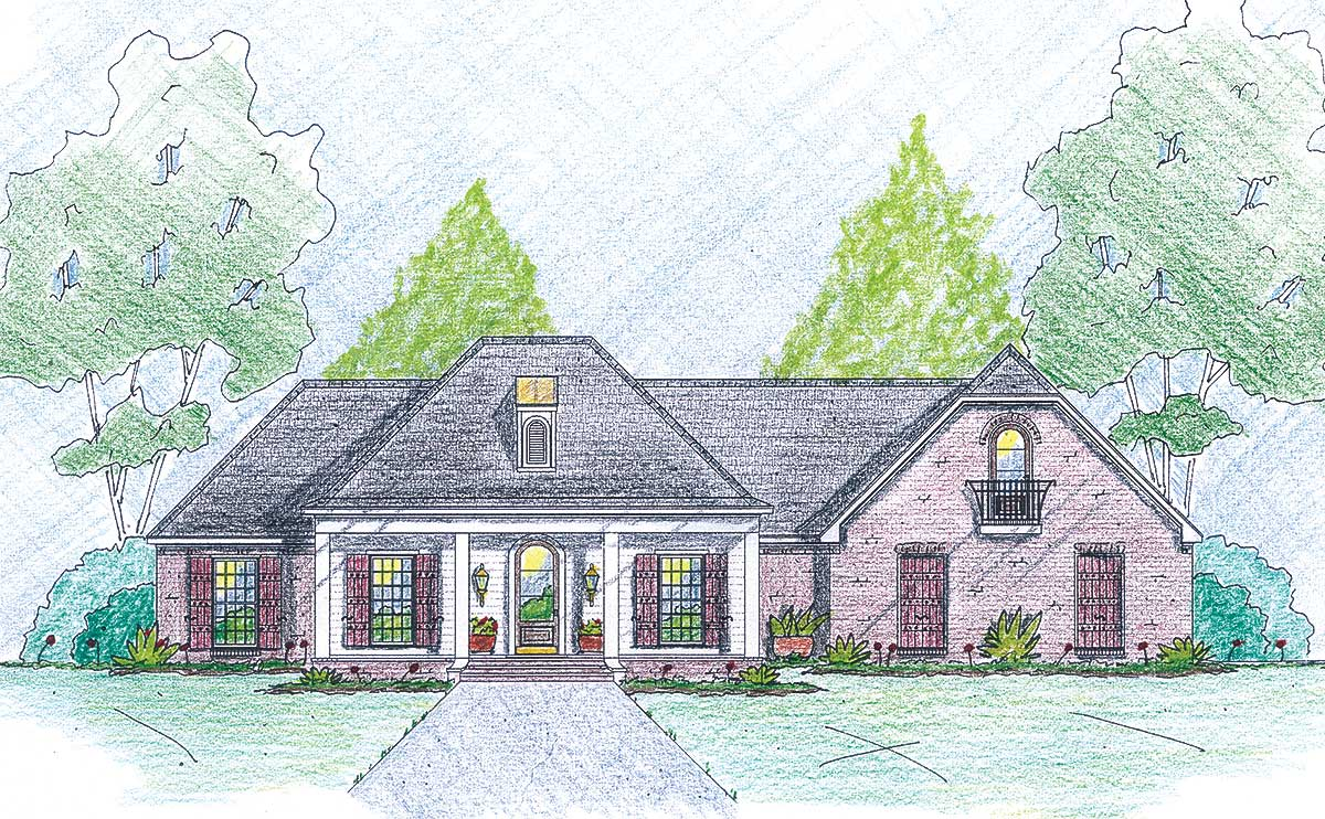 Stately home plan with bonus room 84056jh for Stately house plans