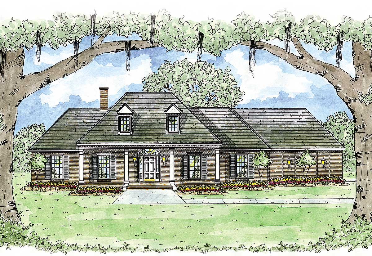 Southern hospitality 8422jh architectural designs for Southern designer house plans